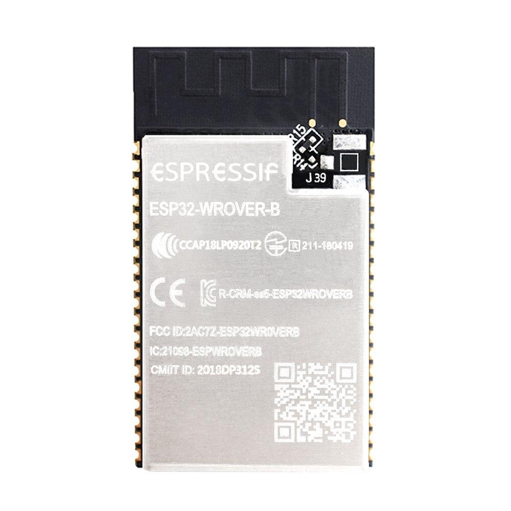 100 pièces ESP32-WROVER-B carte PCB à bord ESP32-WROVER-IB module d'antenne Ipex basé sur le module MCU de ESP32-D0WD WiFi-BT-BLE 4 mo SPI flash