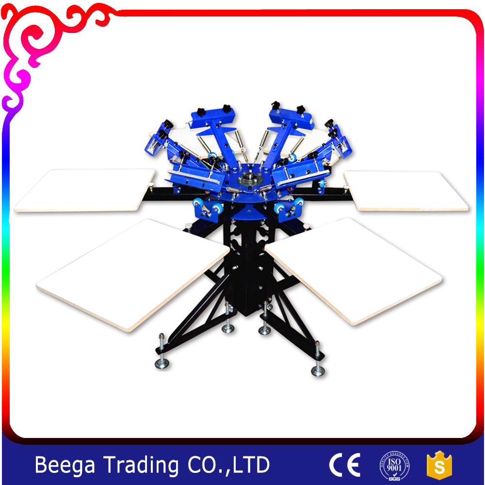 DJ662N Six-color Six-state Double-wheel Screen Printing Machine Screen Printing Press six crows