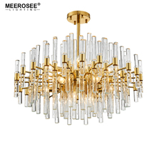 Luxury Crystal Chandelier Lighting Golden Cristal Lustres Light Fixture for Hotel Project MD86286