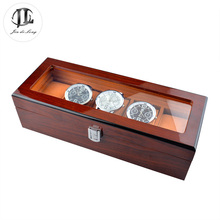 BIG Promotion Vintage Watch Box 5 Grids Boxes for Watches Display Antiqued Wooden Cases Pillow Gift