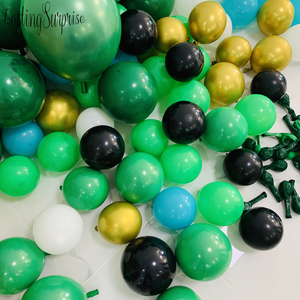 Image 5 - ジャングルパーティー用品バルーン花輪キット、ヤシの葉ラテックスバルーン花輪恐竜森ハワイ夏パーティーの装飾