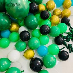 Image 5 - Jungle Party Supplies Balloons Garland Kits, Palm Leaves Latex Balloon Garland Dinosaur Forest Hawaiian Summer Party Decoration