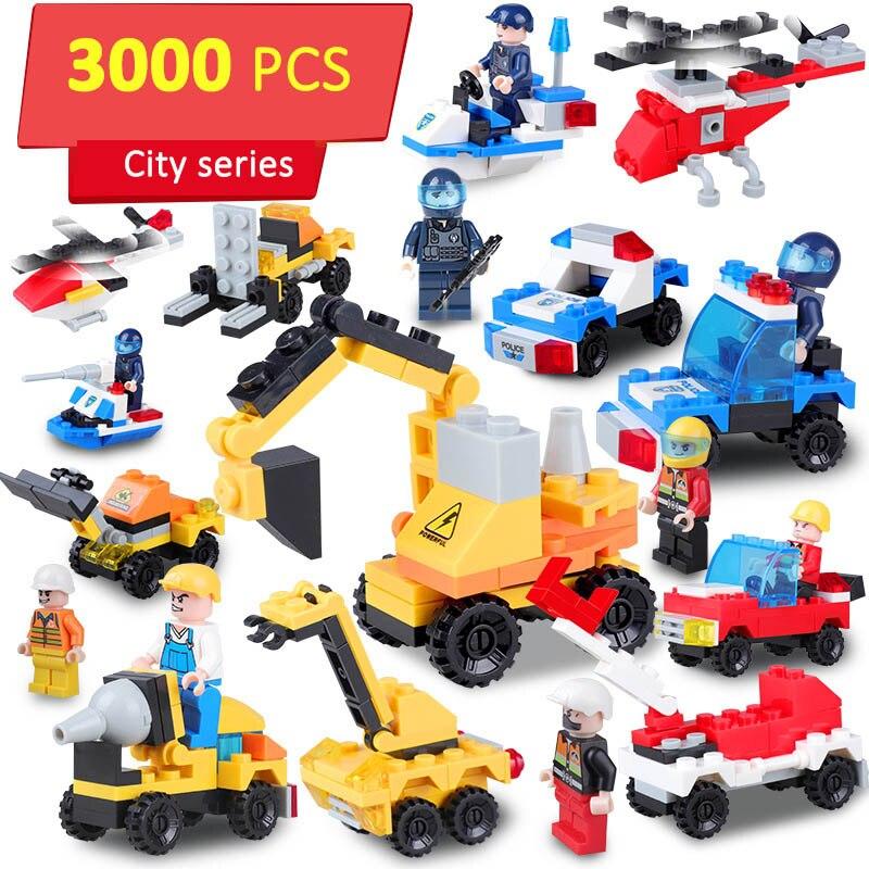 Série d'ingénierie pelle Bulldozer camion modèle en plastique bloc de Construction Compatible Legoed ville Construction jouets pour enfants garçon