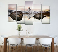 5pcs art HD Printed matterhorn in alps Painting on canvas room decoration print poster picture canvas Free shipping /PT0547