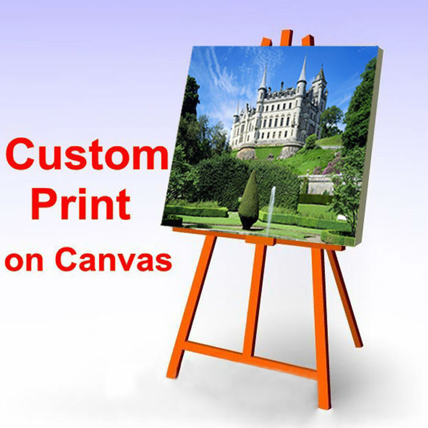 Custom Your Picture,Family Or Baby Photo,Thermal Image Custom Print On Canvas Framed Or Umframed Unique Gift For Children