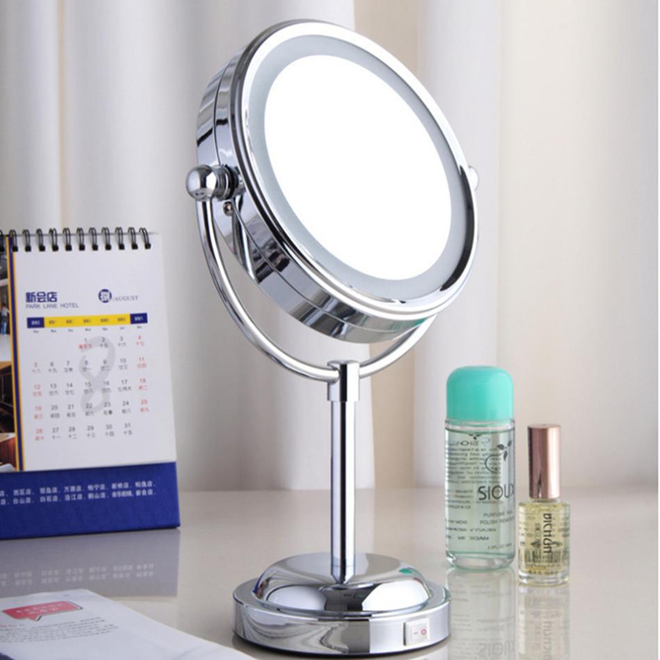pulgadas espejo de aumento con luz led x acero inoxidable unids batera