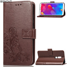 For Meizu M8 Case Soft Silicone Leather Card Holder Anti-knock Phone V8 Cover Bag BSNOVT