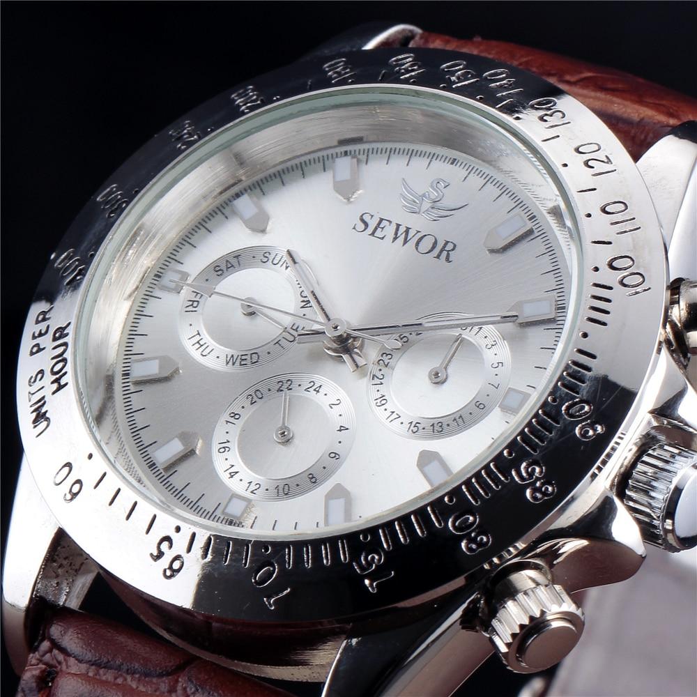 ด้านบนหรูหรา Sewor - นาฬิกาผู้ชาย