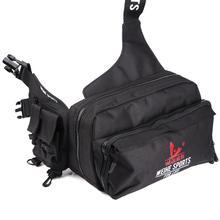 Multifunctional Outdoor Fishing Bag 2000D Nylon Waist Bag Shoulder Reel Lure Waterproof Bags Pesca Fishing Tackle Bag Drop Ship