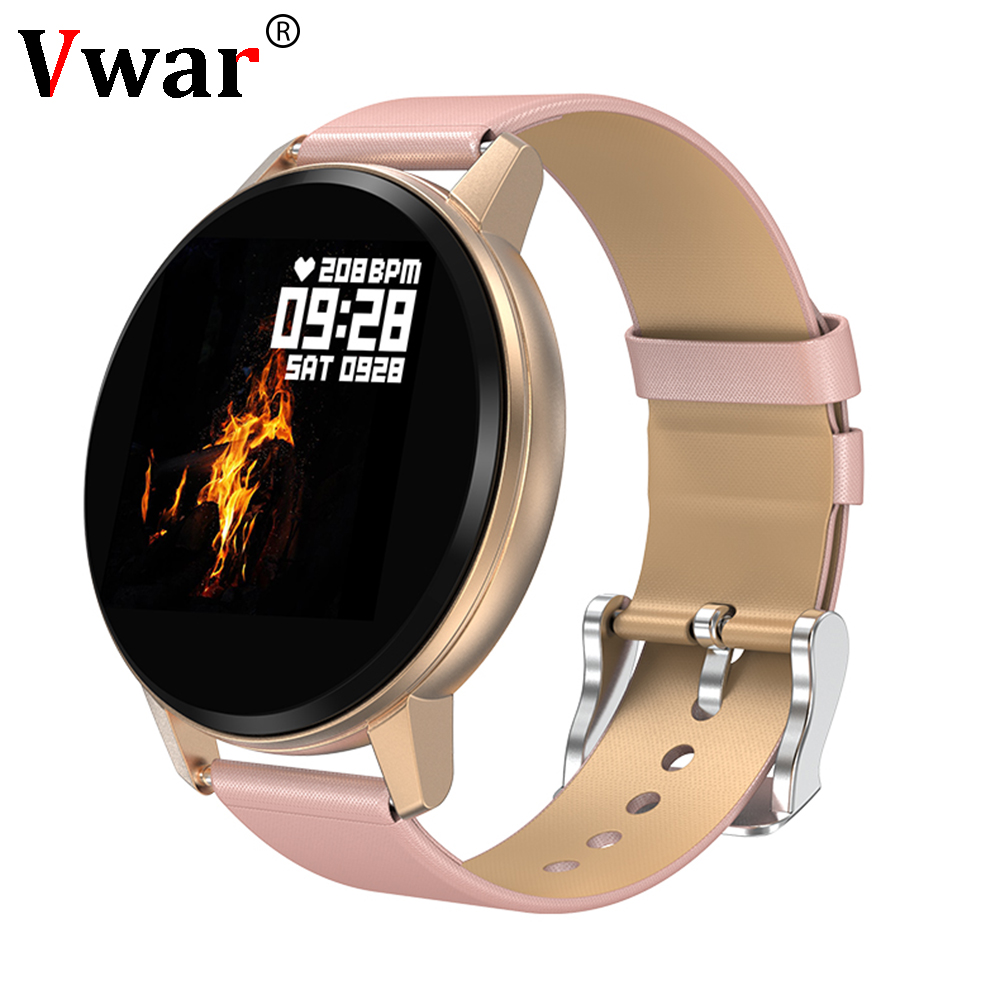 2019 Fashion Vrouwen Slimme Horloge RY1 Waterdichte Multi sport modi Stappenteller Hartslag Bloeddruk Fitness Armband voor Lady-in Smart watches van Consumentenelektronica op  Groep 1