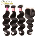 3 Bundles Peruvian Body Wave With Closure F/M/T Part Lace Closure With Bundles Peruvian With Closure Natural Human Hair Weave