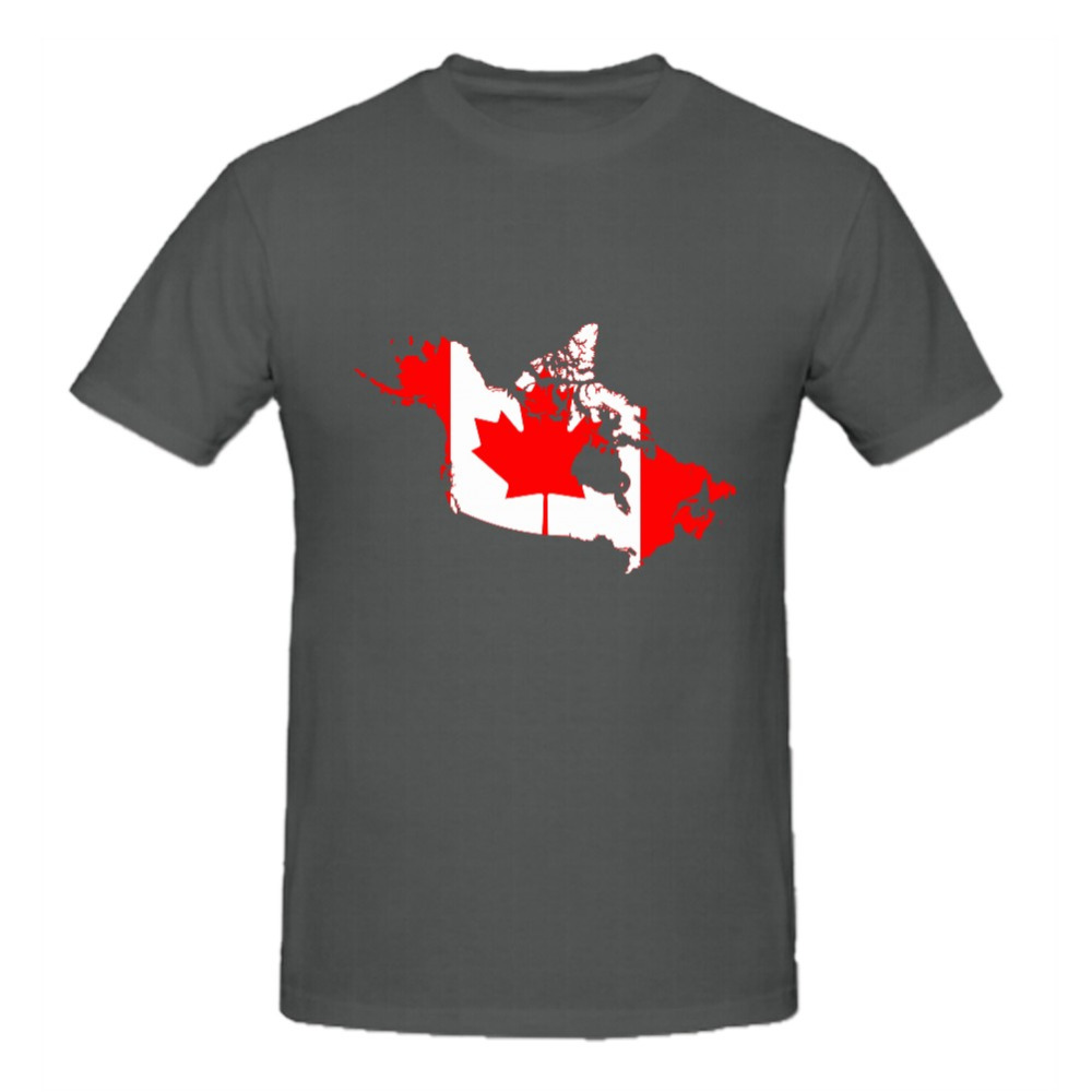 Design t shirt online canada - Rttmall Latest Cool T Shirts For Men Novelty Designed Screw Neck Flag Map Of Greater Canada