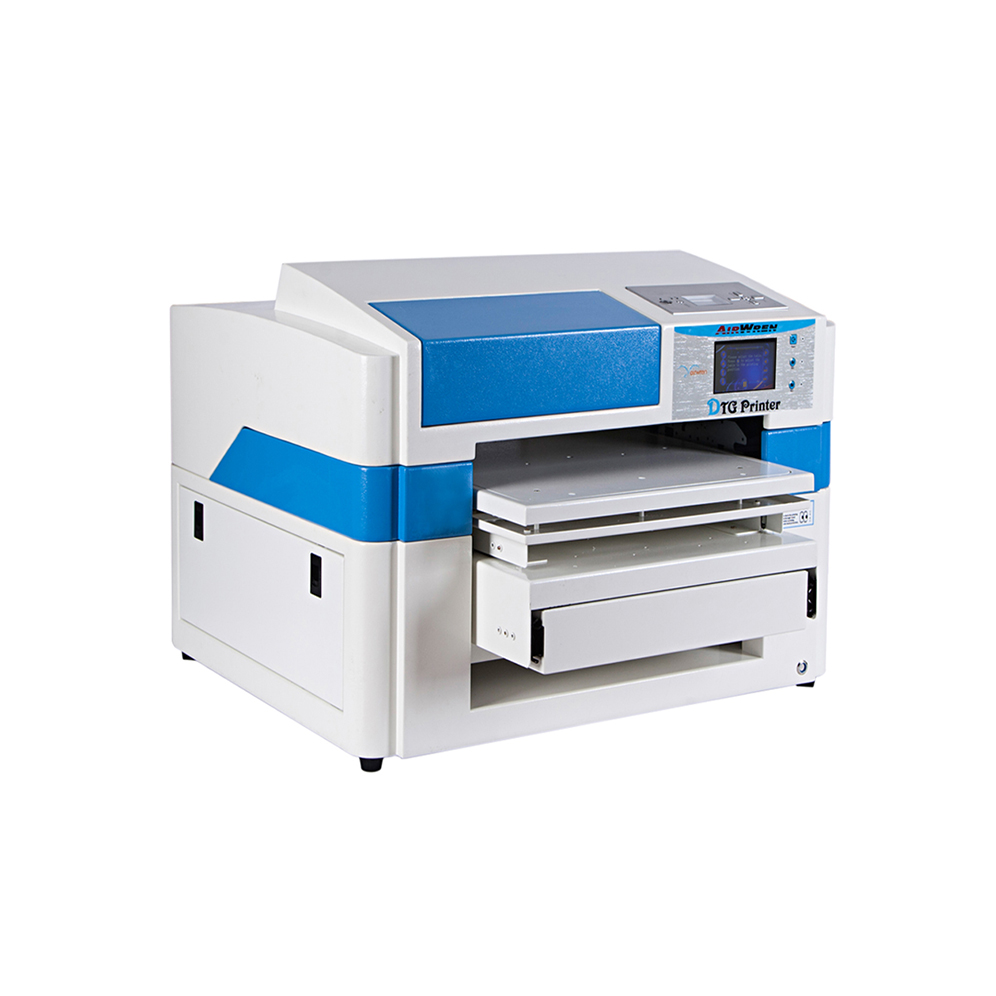 Small A2 Size Multifunction Side Digital DTG Flatbed T-shirt Printer