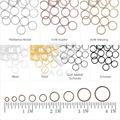 30g Approx 400pcs 6mm Iron Round Open Jump Rings Gauge 21 Hoop Key Rings Making DIY Bracelet Jewelry Wholesale JR0217