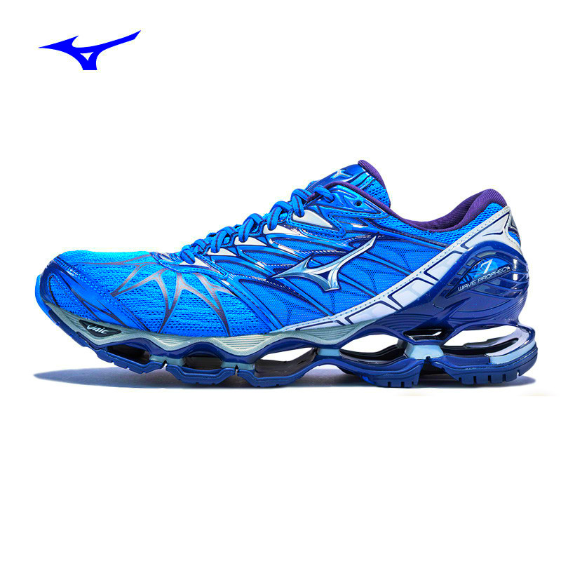 tenis mizuno wave prophecy 6 white jewel blue