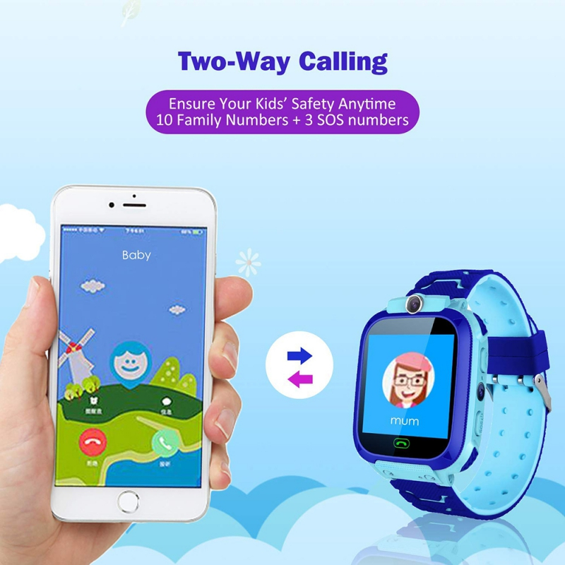 2019 Cute Children's Waterproof Calling Smart Watch Anti-lost With GPS Positioning And SOS Children Smartwatch