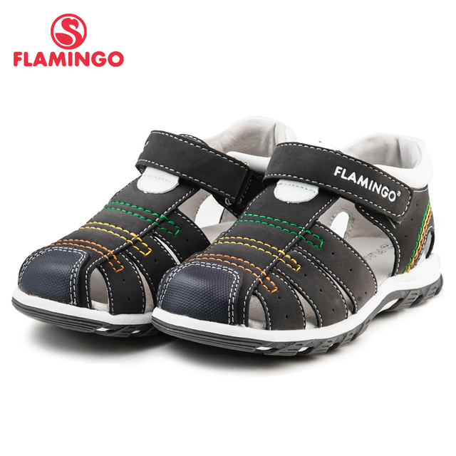 FLAMINGO famous brand 2016 New Arrival Spring & Summer Kids Fashion High Quality sandals for boys 61-XS162