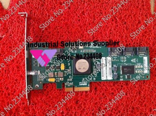 SAS3041E- 4 SAS PCI-E 4X SAS B3 array card chip 100% tested perfect quality 375 3536 sas raid with battery array card pci e sas card 100% test good quality