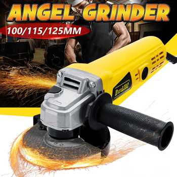 220V 880W 11000rpm Electric Angle Grinder 100/115/125mm Grinding Machine Metal Cutting Tool Adjustable Anti-explosion Shield