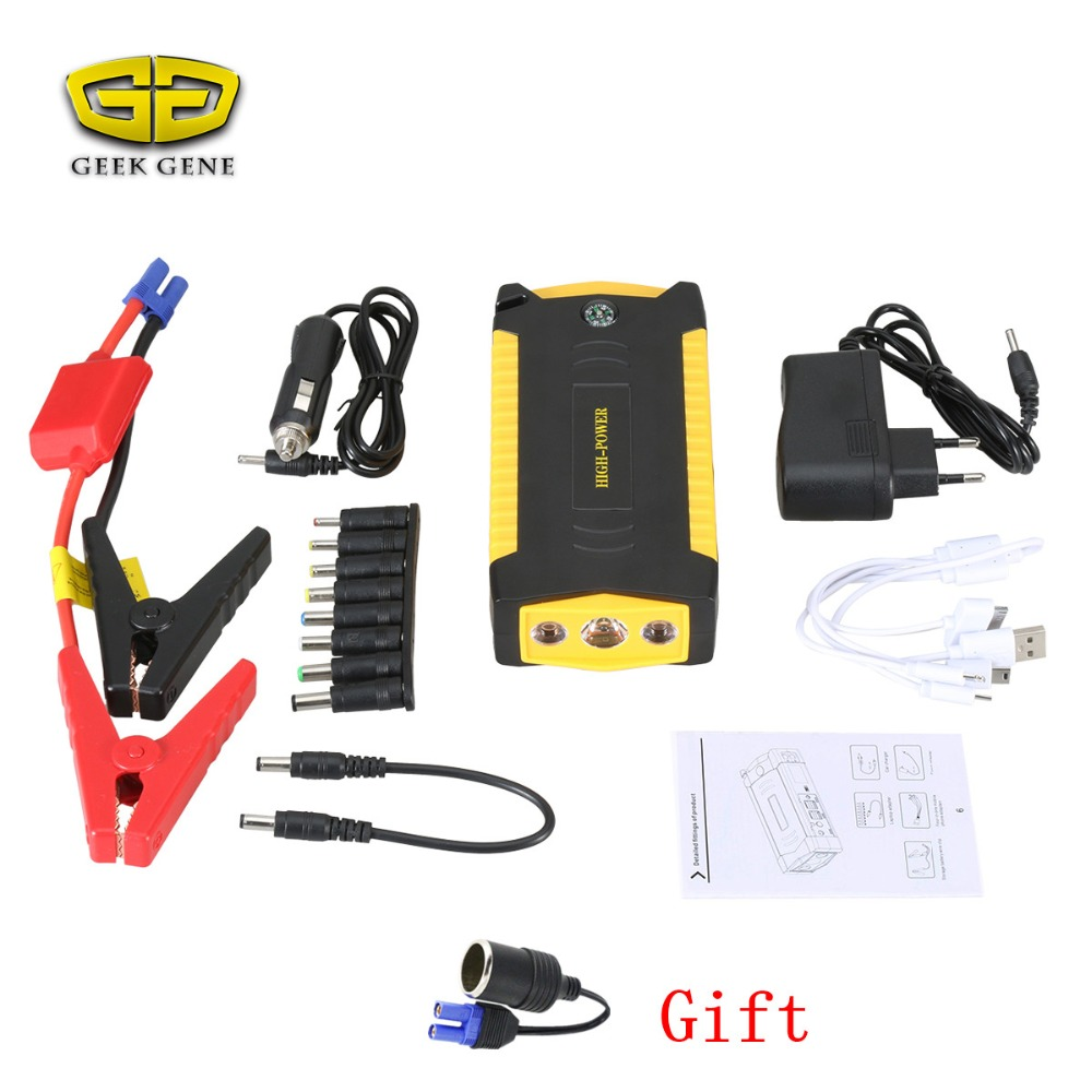 New 2017 Petrol Diesel Starting Device Car Jump Starter 600A Pack Portable Power Bank 12V Charger for Car Battery Booster 2017 starting device car jump starter 800a pack portable car starter power bank charger for car battery booster petrol diesel ce