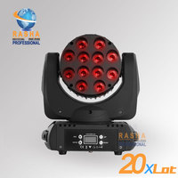 20pcs/ LOT Freeshipping Hot 12pcs*10W CREE 4IN1 RGBW LED Moving Head Beam With LCD Display Power con&in,Stage Light 110 240V
