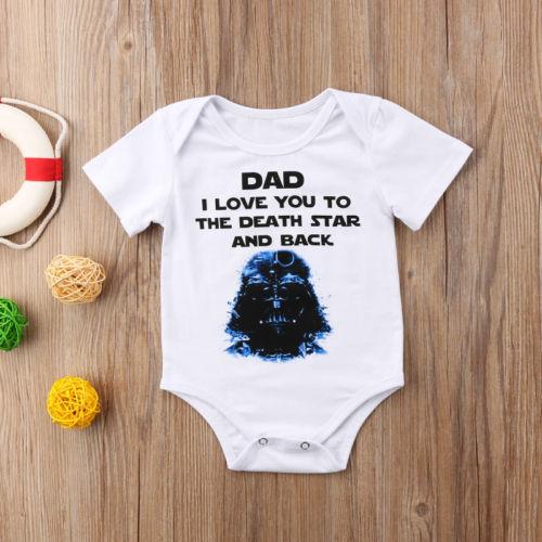 Mooi Pasgeboren Baby Baby Jongens Cartoon Brief Zomer Wit Bodysuit Jumpsuit Outfit Kleding 0-24 M Yu