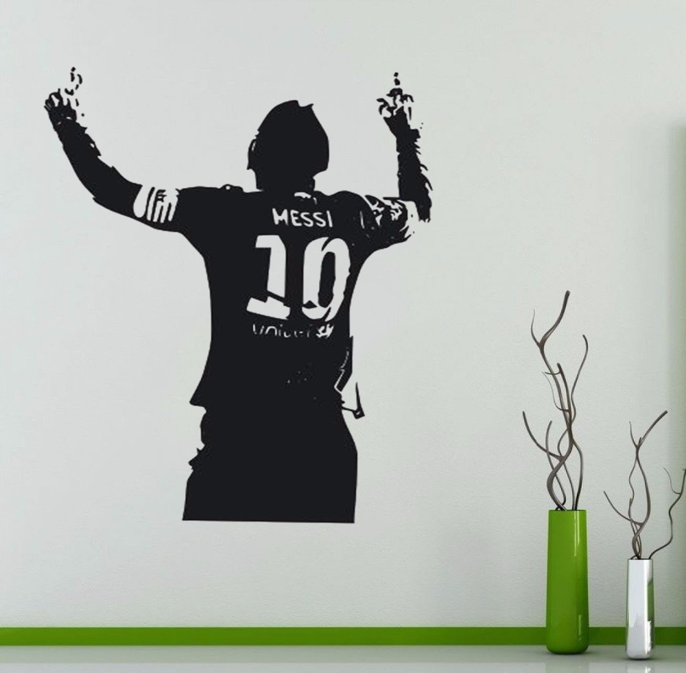 2018 Sport wall decals football messi vinyl wall sticker for Kids room 10 styles for choose DF9905 DF9906 YC924 YC900 YC901