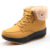 Mujeres Nieve botas Cuñas Botines Zapatos Del Oscilación de Adelgazamiento de la Felpa Sólido Plataforma Punta Redonda Casual Zapatos de La Señora Botas de Invierno