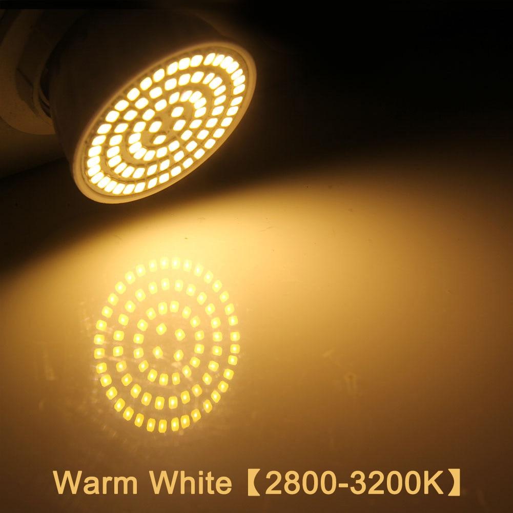 E27 Светодиодный светильник GU10 Светодиодный светильник 220 В SMD 2835 MR16 прожектор 48 60 80 светодиодный s теплый белый холодный белый свет для украшения дома ампулы - Испускаемый цвет: warm white