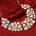 Многоцветный Камни Vintage Ключицы Ожерелье Роскошные Позолоченные Цепи Заявление Ожерелья и Кулоны Ожерелья Женщины Mujer