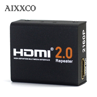 AIXXCO Mini HDMI 2.0 Repeater Extender Transmission Support 3D Formats 1080P 4Kx2K@60HZ HDCP 2.2 EDID Bandwidth Up To 18Gbps