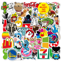 100pcs Stickers Funny Cartoon Graffiti Sticker for Kids Skateboard Luggage Anime Dinosaur PVC Waterproof Stickers for