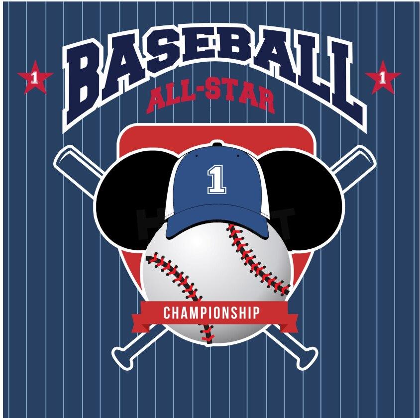 10x10FT Vintage Blue Stripes All Star Baseball Batt Hat