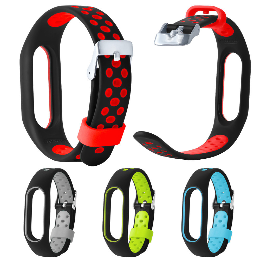 Lightweight Ventilate TPE Wrist Strap Wristband Bracelet For Xiaomi Mi Band 2