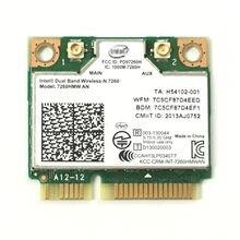 Banda dupla sem fio n 7260 hmwan 7260 7260hmw um wifi bluetooth 4.0 cartão para intel minipci-e 300 mbps wifi 2.4g/5g