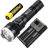 Discount Free Shipping NITECORE P16 Cree T6 LED Flashlight Outdoor Hunt Search Rescue Tactical Torch 18650 Rechargeable Battery