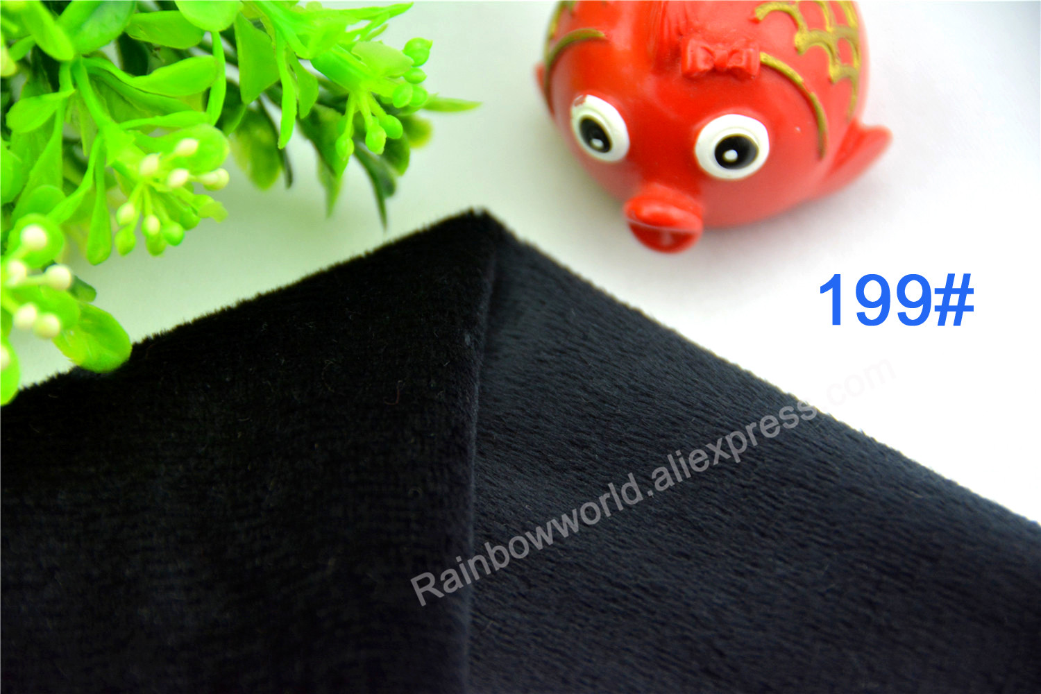 199# black color Super soft short hair 2-3mm Fleece Fabric velvet microfiber velboa for  ...