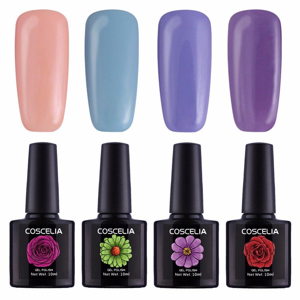 Kit Nail Gel Nail Extension Set Manicure Set 4 Colors Gel Polish ...
