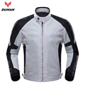 DUHAN Men's Motorcycle Racing Protective Armor Jacket grid material Motorbike racing jacket with Five Protector Guards