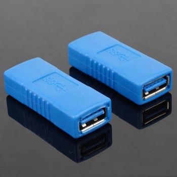 1PC New Practical Black/Blue USB 3.0 Type A Female To Female Adapter Coupler Gender Changer Connector Consumer Electronics