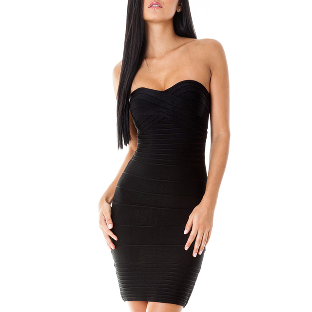 Sexy Strapless Women Bandage Party Dress