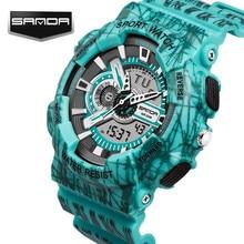 Impermeable Para Hombre Relojes Deportivos Relogio masculino 2016 Hombres Reloj Deportivo de Silicona Reloj Caliente S A Prueba de Golpes Digital de Cuarzo Reloj de Pulsera
