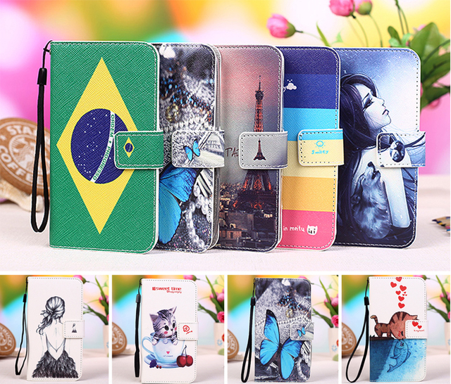 New Style 100% Special case PU Leather Flip Phone Wallet phone case for MICROMAX CANVAS FIRE 4 A107 + Tracking number