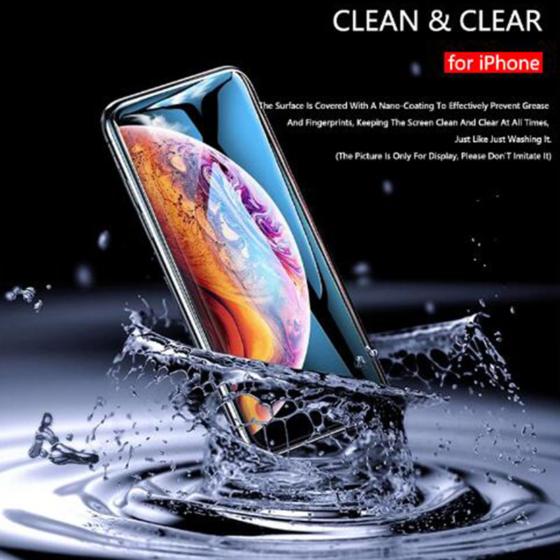 9H 9D matte full cover tempered glass screen protector for iPhone X XS MAX XR 10 8 7 6s 6 Plus 7 Plus for fingerprints in Phone Screen Protectors from Cellphones Telecommunications