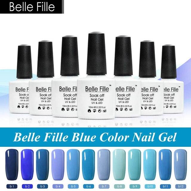 Belle fille 10 ml azul Esmaltes de uñas colores azul cielo océano ...