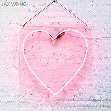 Led Ins sahne ışıkları Giyim Mağazası Stüdyo dekor neon gece işıkları pembe kız kalp şekli Hello neon dekor aydınlatma armatürleri