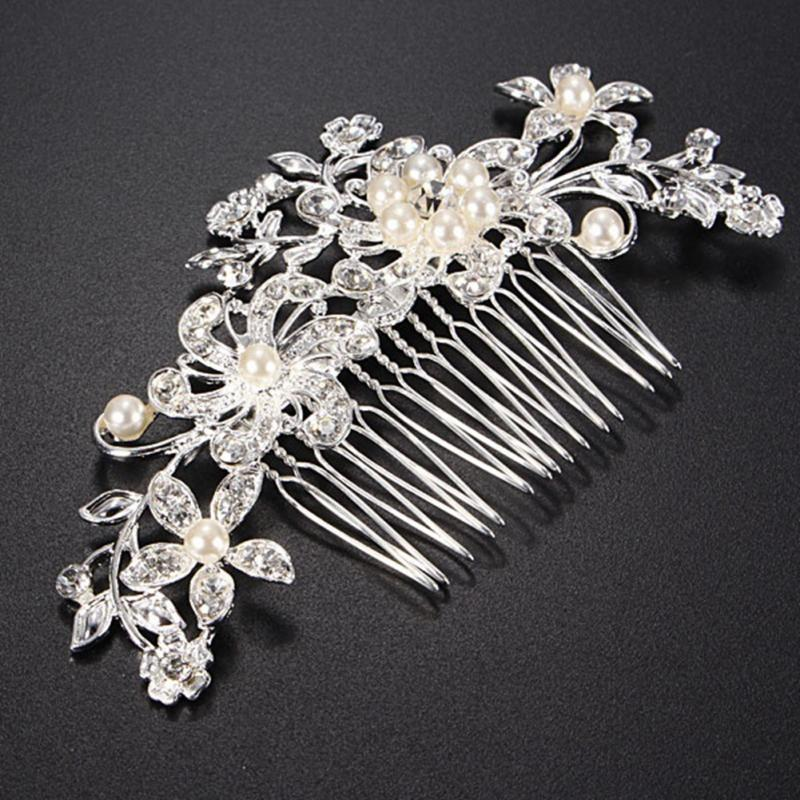 Sell pearl inserted comb wedding manual headdress lady's high-grade hair combs the butterfly hairpin of bride