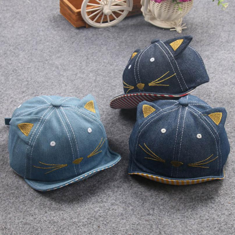 Baby Hat Baby Cap Baby 2018 Baby Beanie For Boys Girls Cat Stripe Hat Children Hats