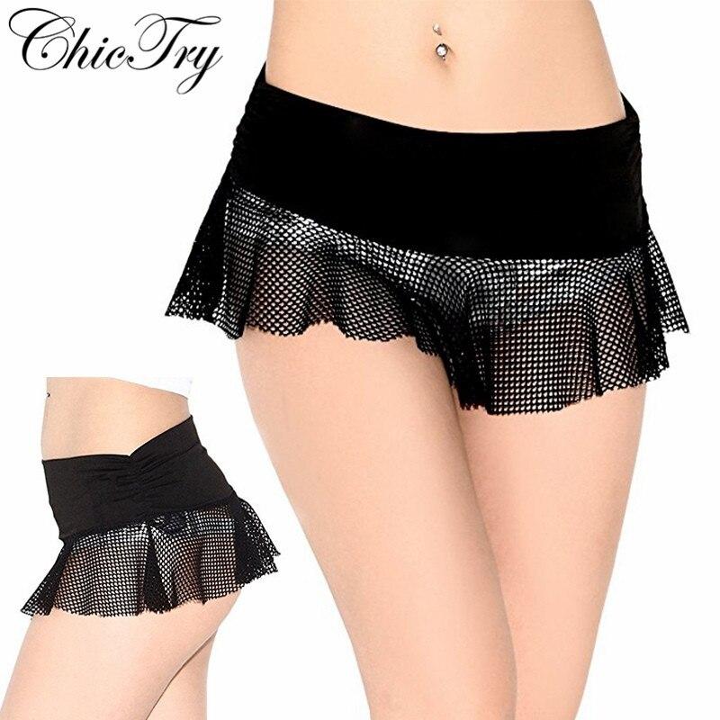 Women Girls Sexy Night Club Pencil Skirts See Through Transparent Short Mini Micro Skirt Tight Mesh Fishnet Low Rise Mini Skirt