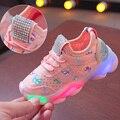 Kinder Casual Schuhe für mädchen Baby Jungen Schuhe Atmungsaktive Anti Slip LED Design Turnschuhe Mädchen Weichen Sohlen Wanderschuhe|Turnschuhe|Mutter und Kind -